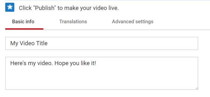 Brève description YouTube
