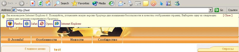 You can also maintain a list within internet explorer 8 for sites that should be displayed in compatibility view so